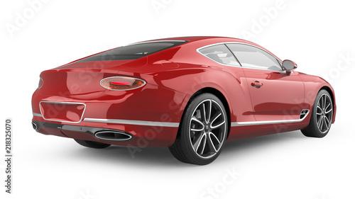 Luxury Sports Car Isolated on White - 218325070
