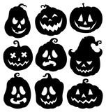 Pumpkin silhouettes theme set 3