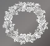 lace flowers frame decoration element - 218334427