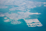 High altitude aerial view of the north part of Bahrain - 218335419