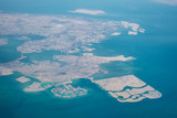 High altitude aerial view of the north part of Bahrain - 218335425