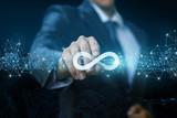 Unlimited Internet shows a businessman . - 218381231