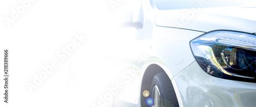 Modern white car  - 218389666