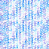 Seamless pattern with abstract geometric figures. Watercolor stripes like a trace of the wheel, blue and violet colors. - 218403678