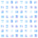 Seamless pattern with abstract geometric figures. Watercolor line-spots in the tiled pattern, blue and violet colors. - 218404067