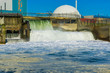 industry landscape at the beach with amazing waterfall - 218417284