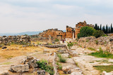 Ancient city of Hierapolis in Pamukkale, Turkey