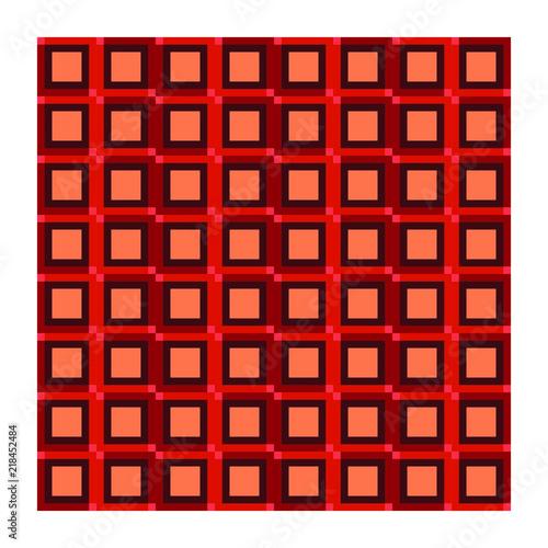 Rosso Astratto Arte Geometrico Sfondo Colorato Design Vettoriale
