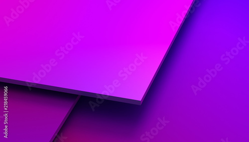 Abstract 3d rendering of a modern geometric background. Minimalistic design for poster, cover, branding, banner, placard. - 218459066