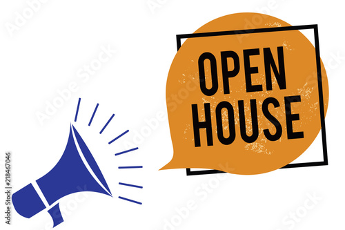 Word writing text Open House  Business concept for you can come