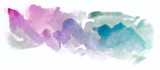 watercolor abstract spot blue violet green overflow creative color band