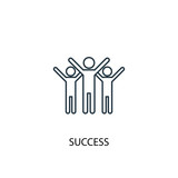 success concept line icon. Simple element illustration. success concept outline symbol design from success set. Can be used for web and mobile UI/UX - 218481058