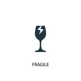 fragile icon. Simple element illustration - 218481662