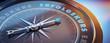 Leinwanddruck Bild - Dunkler Kompass mit Lichtspiel - Erfolgskurs