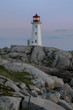 Peggy's Point Lighthouse at Peggy's Cove in Nova Scotia