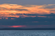 Soft, cloudy sunset from the lighthouse at Peggy Cove in Nova Scotia