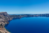 Crater lake in Oregon, the deepest lake in North America - 218552284