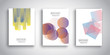 Brochure templates with abstract designs