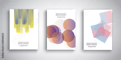 Poster Brochure templates with abstract designs