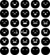 顔、表情のアイコンセット