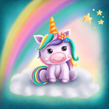 Little cute unicorn - 218584276