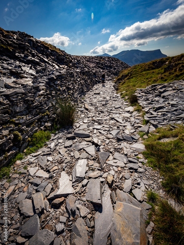 Snowdonia Hill Landscape National Park in Wales at Mount Snowdon