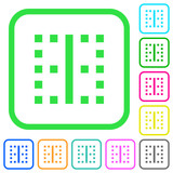 Vertical border vivid colored flat icons - 218616063