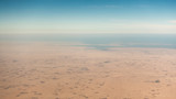 Coastal desert aerial view in the Persian Gulf - 218621499