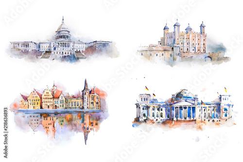 architektura-czterech-miejsc-w-stylu-farb-wodnych