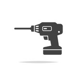 Drill icon vector isolated - 218648298