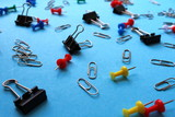 Stationery clips for paper nails and paper clips - 218673808