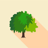 Fluffy tree icon. Flat illustration of fluffy tree vector icon for web - 218674019