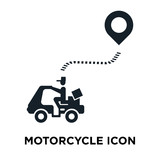 Motorcycle icon vector isolated on white background, Motorcycle sign
