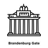 Brandenburg Gate icon vector isolated on white background, Brandenburg Gate sign , line or linear sign, element design in outline style
