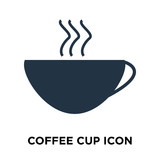 Coffee cup icon vector isolated on white background, Coffee cup sign