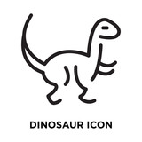 Dinosaur icon vector isolated on white background, Dinosaur sign , line symbol or linear element design in outline style