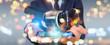 Leinwanddruck Bild - Businessman using virtual reality glasses technology 3D rendering