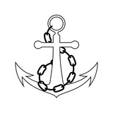 Icon of sea anchor with chain