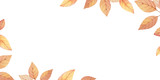 Watercolor autumn vector card template design of leaves and branches isolated on white background. - 218752033