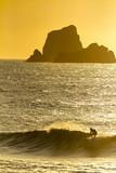 SURFISTA EN EL MAR SURFEANDO AL ATARDECER - 218756006