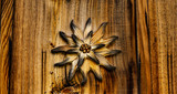 Edelweiß aus Holz