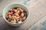 Mix nuts in bowl - 218761254