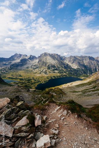 Valley of Five Lakes in the High Tatra Mountain, Poland