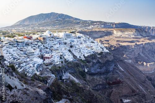 Scenic view of Thira, on the island of Santorini.