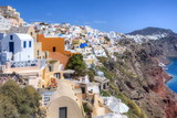 Oia village cityscape, Santorini (Thira), Greece - 218769091