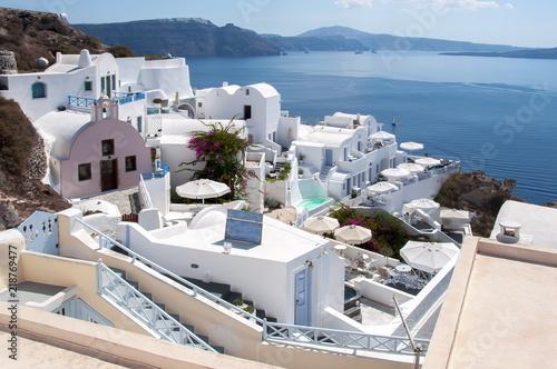 Oia village cityscape, Santorini (Thira), Greece