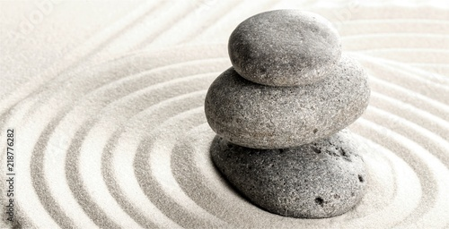Zen stones on the sand - 218776282