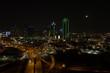 Aerial night photo Downtown Dallas Texas big American city