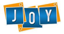 Joy Blue Orange Blocks Rings  Sticker