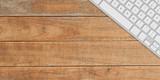 keyboard on desk overhead